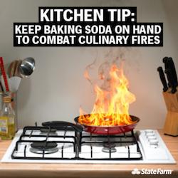 Baking soad fire