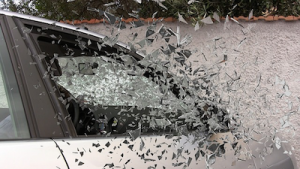 Glass on car
