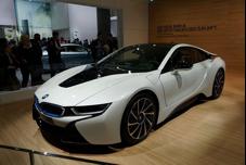 BMW i8 plug-inelectric car (production version) at the 2013 Frankfurt Motor Show