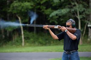Obama with firearm