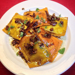 Image: Pumpkin Ravioli with brown butter sauce by the fetching @alexandra90210 CC BY-SA 2.0