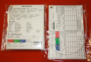 Pictured are the H&H Medical standard and Marine Combat Casualty Care Cards.  They range in price from approximately $2 to $4 each.