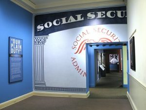 """Social Security Exhibit"" by FDR Presidential Library & Museum is licensed under  CC BY 2.0"